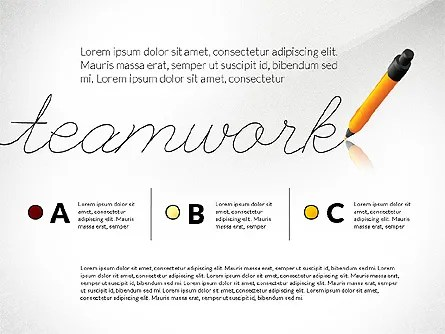 Teamwork Presentation Concept in Sketch Style for PowerPoint