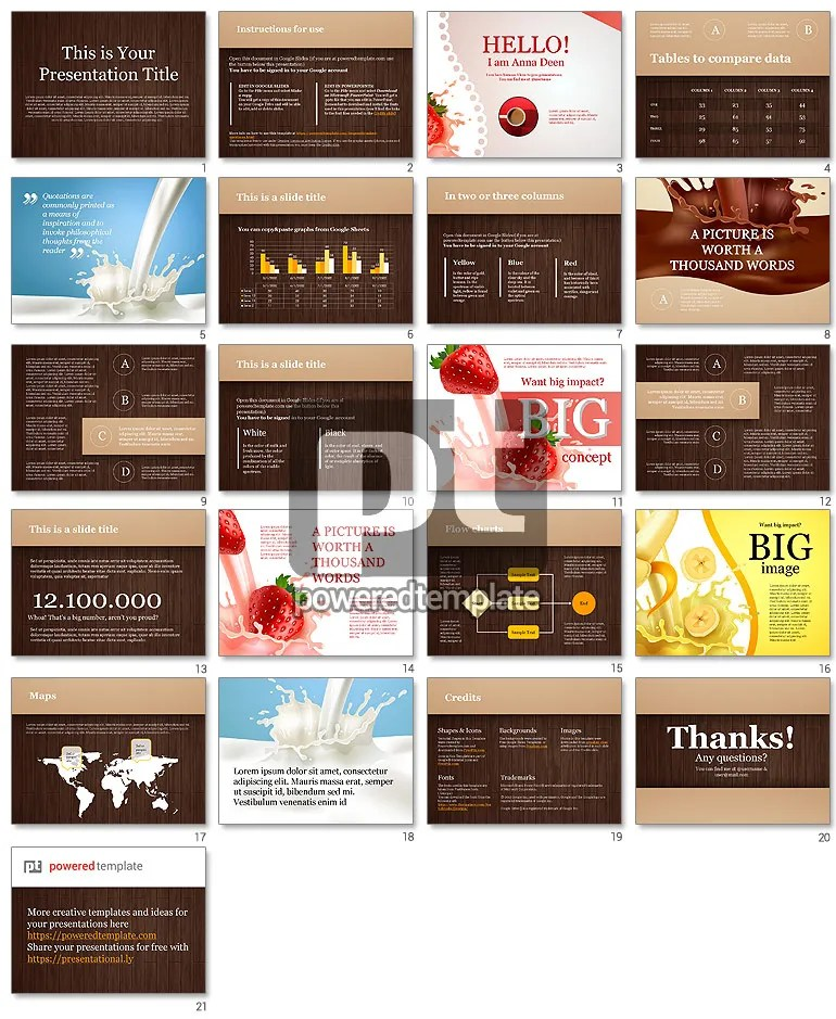 Chocolate Theme Google Slides Template PoweredTemplate - google slides themes to import