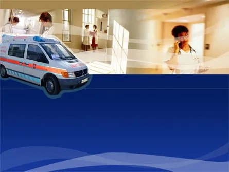 Ambulance PowerPoint Template, Backgrounds 00014 PoweredTemplate