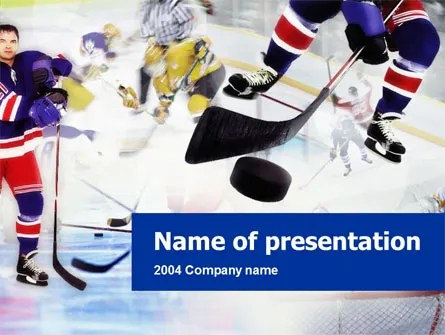 Ice Hockey PowerPoint Template, Backgrounds 00119