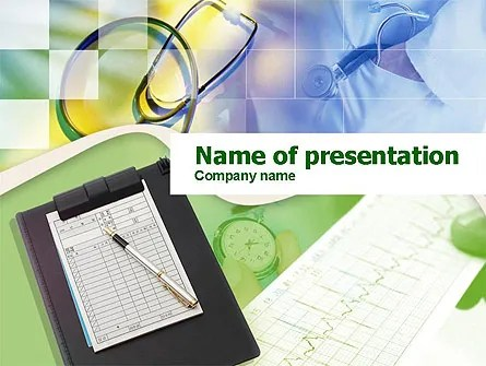 Medical Records PowerPoint Template, Backgrounds 00286