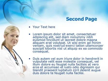 Head Nurse PowerPoint Template, Backgrounds 00311 - nursing powerpoint template