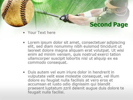 Baseball Hit PowerPoint Template, Backgrounds 00507
