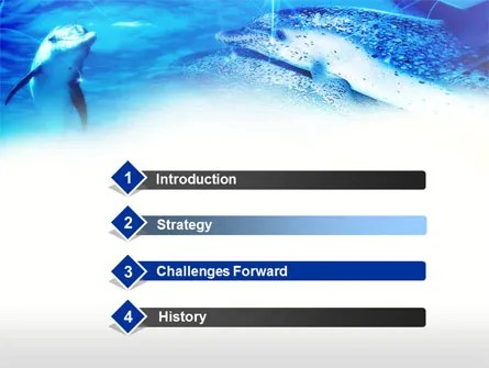 Dolphins Under The Sea PowerPoint Template, Backgrounds 00674