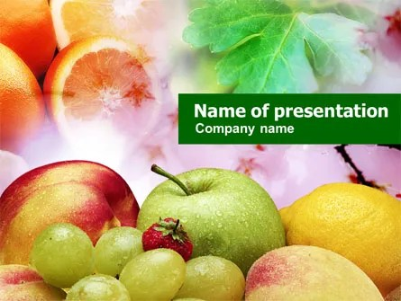 Fresh Fruits Of Summer PowerPoint Template, Backgrounds 00689