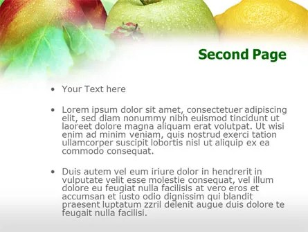 Fresh Fruits Of Summer PowerPoint Template, Backgrounds 00689 - summer powerpoint template