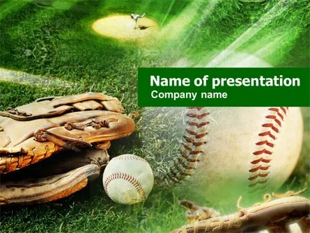 Baseball Affiliation PowerPoint Template, Backgrounds 01031