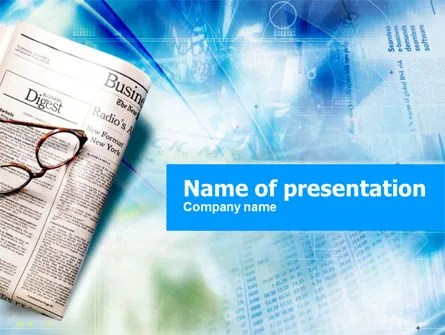 Morning Business Newspaper PowerPoint Template, Backgrounds 01154