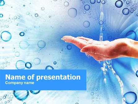 Tap Water PowerPoint Template, Backgrounds 01194 PoweredTemplate
