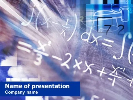 Mathematics PowerPoint Templates and Backgrounds for Your
