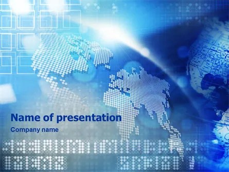 Global Technologies PowerPoint Template, Backgrounds 01456 - global powerpoint template