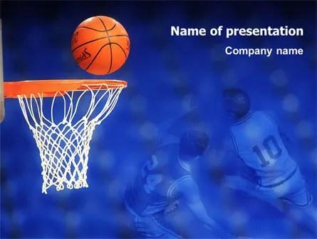 Basketball Match PowerPoint Template, Backgrounds 01816