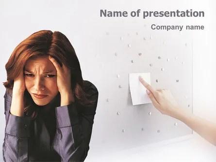 Stress PowerPoint Template, Backgrounds 01901 PoweredTemplate