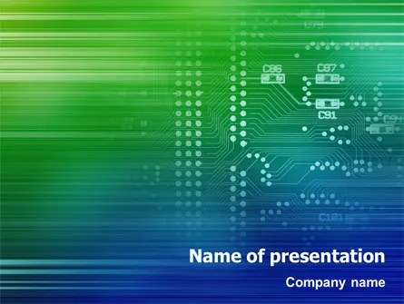Printed Circuit Board PowerPoint Template, Backgrounds 01945