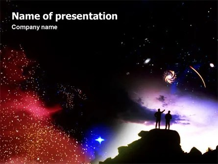 Astronomical Research PowerPoint Template, Backgrounds 02005