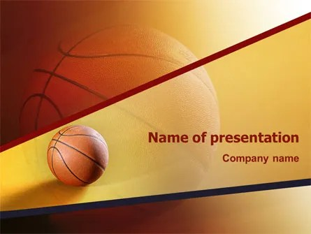 Before Basketball Game PowerPoint Template, Backgrounds 02016 - basketball powerpoint template