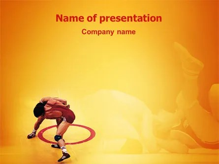 Free-Style Wrestling PowerPoint Template, Backgrounds 02159 - sports background for powerpoint