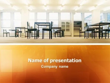 Office Canteen PowerPoint Template, Backgrounds 02798 - office powerpoint template