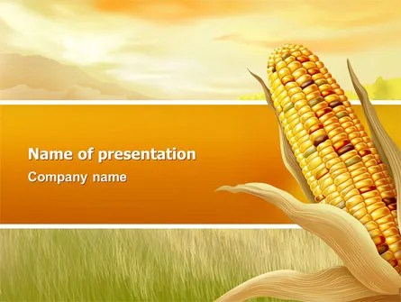 Corn Thanksgiving Free PowerPoint Template, Backgrounds 02821 - thanksgiving powerpoint templates