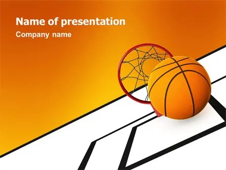 Basketball PowerPoint Template, Backgrounds 02904 - basketball powerpoint template