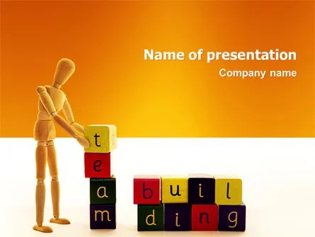 Team Building PowerPoint Template, Backgrounds 02993