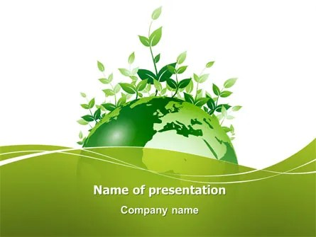 Green Environment PowerPoint Template, Backgrounds 03091
