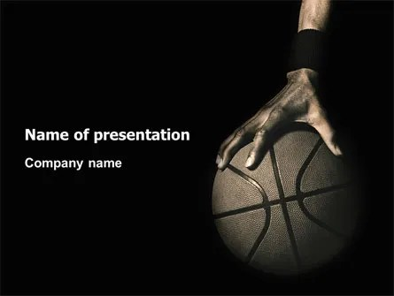 Basketball Player PowerPoint Template, Backgrounds 03249 - basketball powerpoint template