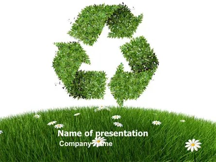 Recycling Symbol PowerPoint Template, Backgrounds 03397 - recycling powerpoint templates
