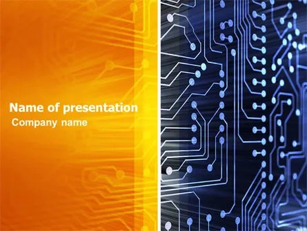 Circuit Board PowerPoint Template, Backgrounds 03422