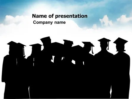 Graduates PowerPoint Template, Backgrounds 03685 PoweredTemplate - graduation powerpoint