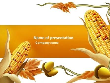 Harvest of Autumn PowerPoint Template, Backgrounds 03689 - autumn powerpoint templates