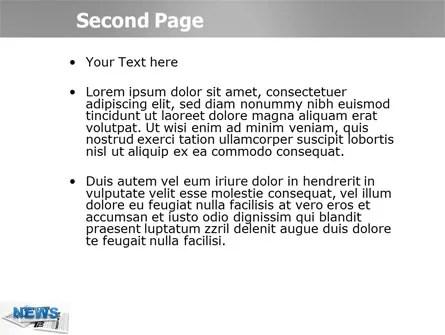 Newspaper PowerPoint Template, Backgrounds 03778 PoweredTemplate