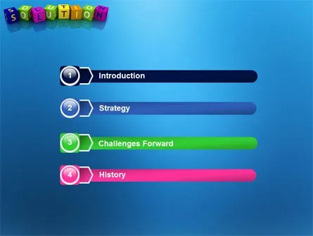 Solution 3D PowerPoint Template, Backgrounds 03819