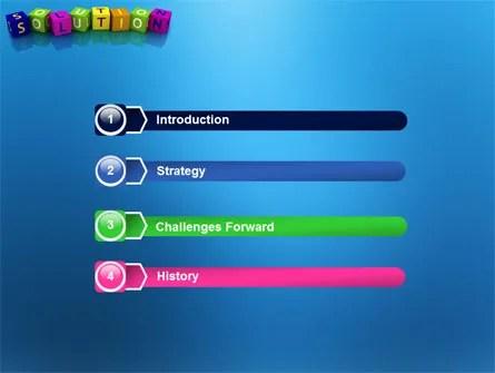 Solution 3D PowerPoint Template, Backgrounds 03819 - 3d powerpoint template