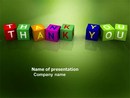 Thank You Cubes PowerPoint Template, Backgrounds 03944