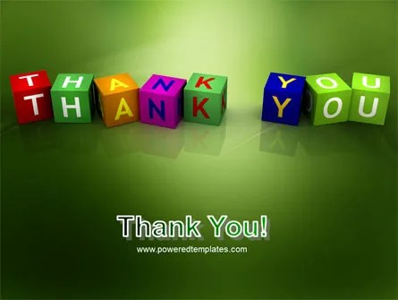 Thank You PowerPoint Templates and PoweredTemplate - mandegarinfo