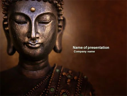 Buddha In Meditation PowerPoint Template, Backgrounds 03973 - buddhism powerpoint