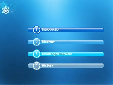 Snowflake Theme PowerPoint Template, Backgrounds 04167