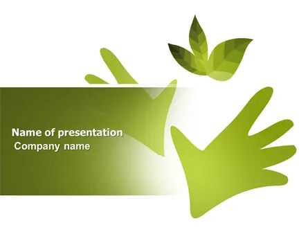 Helping Nature PowerPoint Template, Backgrounds 04194 - nature powerpoint