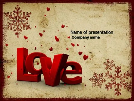 Christmas Love Free PowerPoint Template, Backgrounds 04198