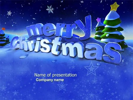 Happy Christmas Theme Free PowerPoint Template, Backgrounds 04205