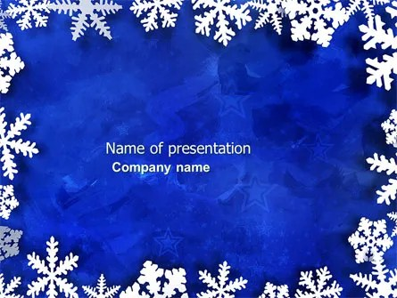 Winter Theme PowerPoint Template, Backgrounds 04220 - winter powerpoint template