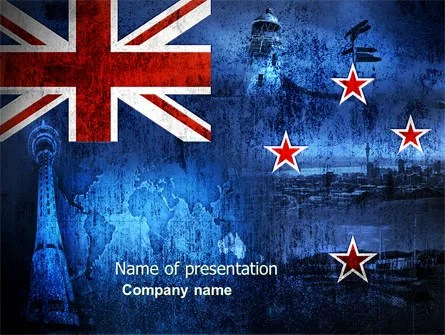 New Zealand PowerPoint Template, Backgrounds 04258