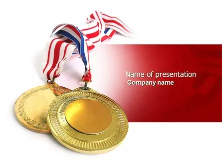 Medal PowerPoint Template, Backgrounds 04414 PoweredTemplate - gold medal templates