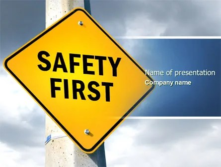 Safety First PowerPoint Template, Backgrounds 04449