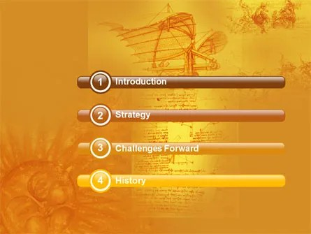 Leonardo Da Vinci PowerPoint Template, Backgrounds 04517 - history powerpoint template