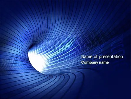 Digital Tunnel PowerPoint Template, Backgrounds 04529