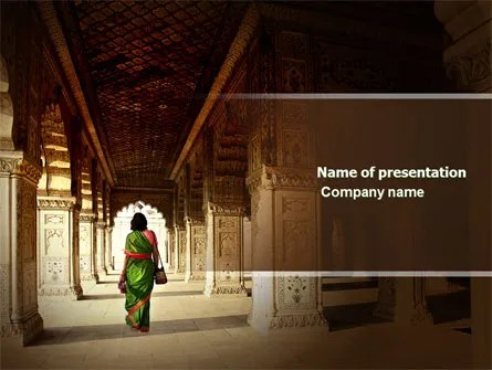 Hindu Temple PowerPoint Template, Backgrounds 04603