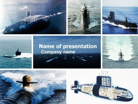 Submarine PowerPoint Template, Backgrounds 04850 PoweredTemplate
