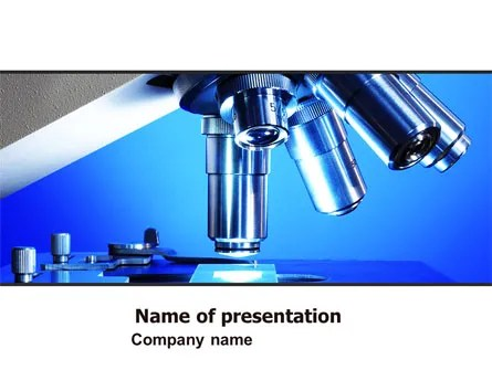 Microscope Lens PowerPoint Template, Backgrounds 05981 - scientific ppt background
